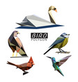 bird polygon vector image vector image