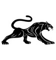 black panther sign vector image vector image