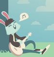Bunny Singing under the Tree vector image