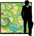 Businessman in suit silhouette vector image vector image