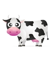 Cartoon cow animal vector image