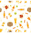 cartoon funny beer characters seamless pattern vector image vector image