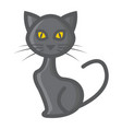 cat filled outline icon halloween and scary vector image vector image