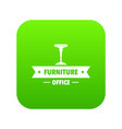 chair office icon green vector image vector image