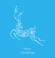 christmas deer made of snowflakes celebration vector image