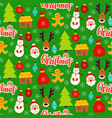 christmas greeting seamless pattern vector image