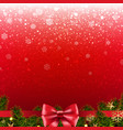 christmas red poster vector image vector image
