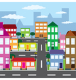 city in sunny day vector image vector image
