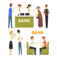 clients consulting at managers at bank office vector image vector image