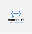 code chat logo design template isolated vector image vector image