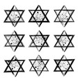 collection of the stars of david created in vector image vector image