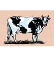 Cow Milk world map pattern on the skin vector image