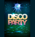 disco ball background disco poster vector image vector image