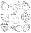 doodle of fruit style hand draw vector image vector image