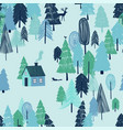 eamless pattern fairy tale winter forest vector image vector image