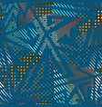 fabric geometric seamless pattern vector image vector image