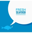fish speech bubble says food design background vector image vector image