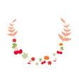 floral leaves branch cherries pumpkin vector image vector image