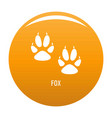 fox step icon orange vector image vector image