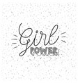 girl power poster text in monochrome silhouette on vector image