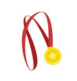 gold medal eps vector image vector image