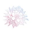 Graphic floral vignette vector image