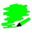 green marker copy space vector image vector image