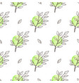 green spring floral seamless pattern vector image vector image