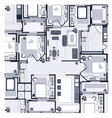 Grey House Plan vector image vector image