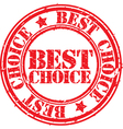 Grunge best choice rubber stamp vector image vector image