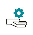 hand setting web development icon line and fill vector image
