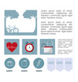 healthy habits infographic vector image
