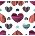 hearts with stripes vector image