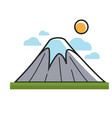 high mountain under sun vector image