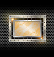industrial background metal frame vector image vector image