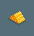 isometric shiny gold bars vector image