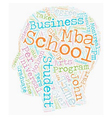 John Molson School Of Business text background vector image
