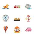 Kids games icons set cartoon style