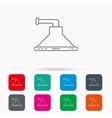 Kitchen hood icon Kitchenware equipment sign vector image vector image