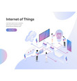 landing page template internet things vector image
