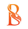 letter b fire life icon in abstract style vector image vector image