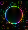 Many colorful bubbles unusual dark abstract vector image vector image