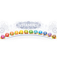 mineral vitamin multi supplement icons vector image vector image