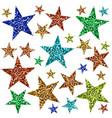 multicolored stars vector image vector image
