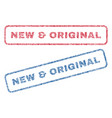 new original textile stamps vector image vector image