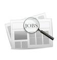 newspaper jobs vector image vector image