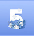 numeral 5 natural winter vector image vector image