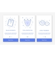 onboarding app screens and vector image