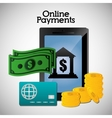 Online payments icons vector image vector image