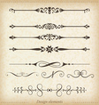 Ornamental dividers and ornaments vector image